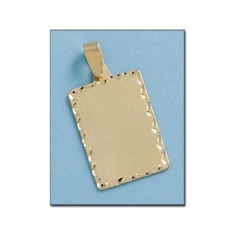 PLACA RECTANGULAR TALLADA ORO