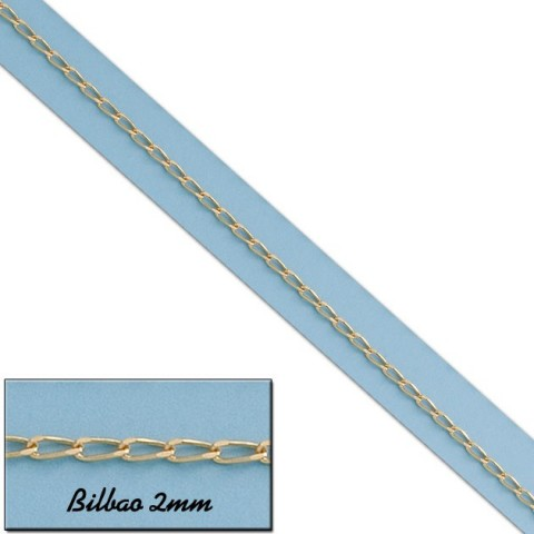 CADENA BILBAO ORO 2MM - 40cm
