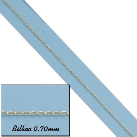 CADENA BILBAO ORO 0.70MM - 40cm
