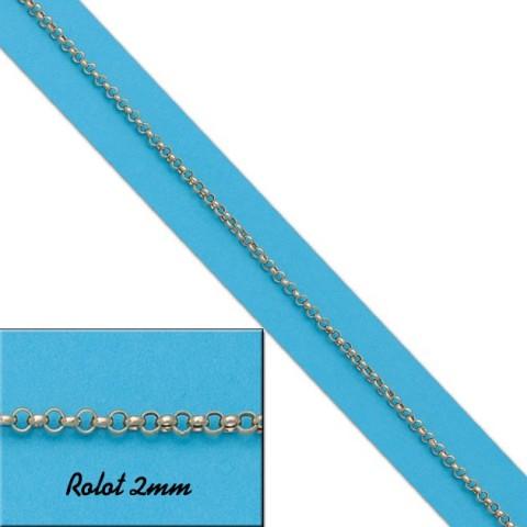 CADENA HUECA ROLOT 2MM ORO - 60cm