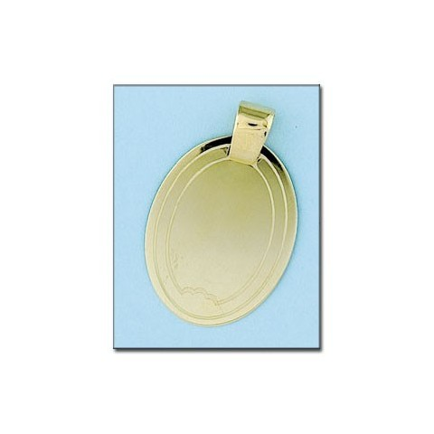 PLACA OVAL ORO