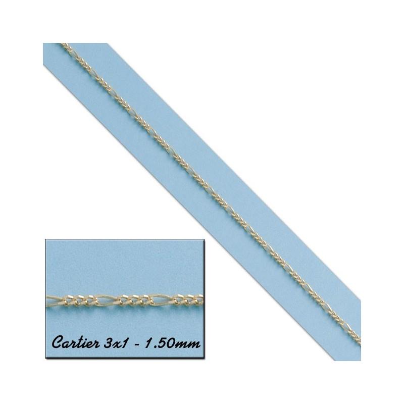 CADENA CARTIER 3X1 ORO 1,50MM - 60cm