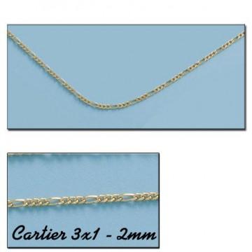 CADENA ORO CARTIER 3X1 HUECA 2MM - 60cm