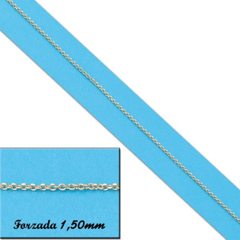 CADENA FORZADA ORO 1,50MM - 60cm