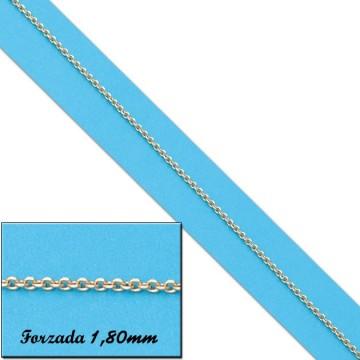 CADENA FORZADA ORO 1,80MM - 60cm