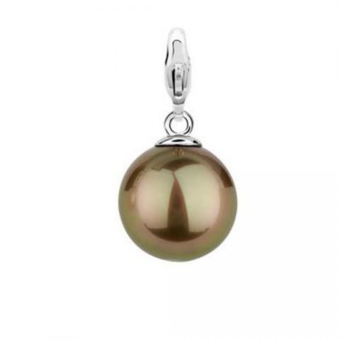 charming colgante perla marron 8055PB