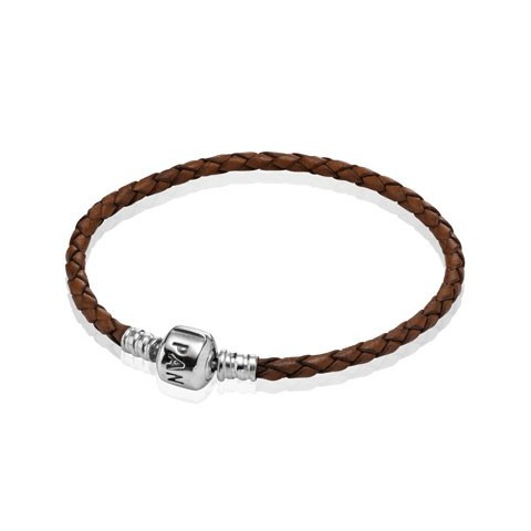 PULSERA DE CUERO SIMPLE MARRON 590705CBN-S2