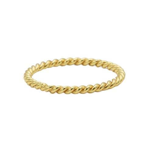 Anillo chapado oro WA0187-8