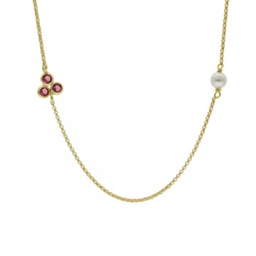 Collar perla rose de Dahlia